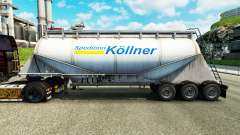 Skin Spedition Kollner cement semi-trailer
