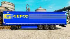Gefco skin for trailers for Euro Truck Simulator 2