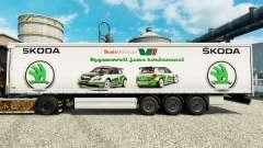 Škoda skin for trailers for Euro Truck Simulator 2