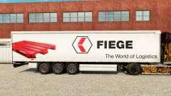 Skin Fiege on a curtain semi-trailer for Euro Truck Simulator 2