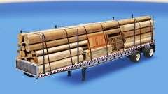 The semitrailer-platform with different loads v3