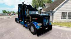 Skin Monster Energy Blue for the truck Peterbilt
