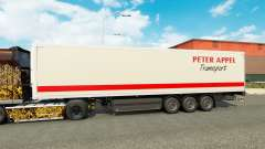 Peter Appel skin for trailers for Euro Truck Simulator 2