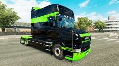 Skin Black-green-for truck Scania T