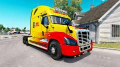 Skin DHL for tractor Freightliner Cascadia