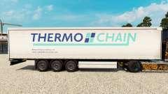 Skin Thermo Chain on a curtain semi-trailer for Euro Truck Simulator 2