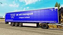 Skin De Wit Transport on semi-trailers