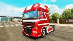 Metallic skin for DAF truck