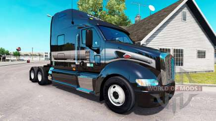 The skin of the Marten on the tractor Peterbilt 387 for American Truck Simulator