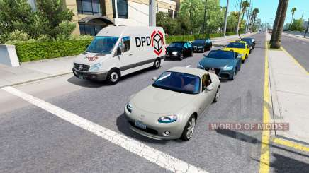 Advanced traffic v1.4 for American Truck Simulator