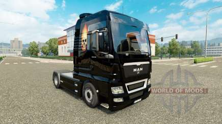 Skin Skull on fire on a tractor MAN for Euro Truck Simulator 2
