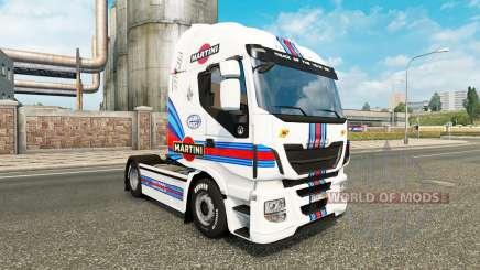 Martini Racing skin for Iveco tractor unit for Euro Truck Simulator 2