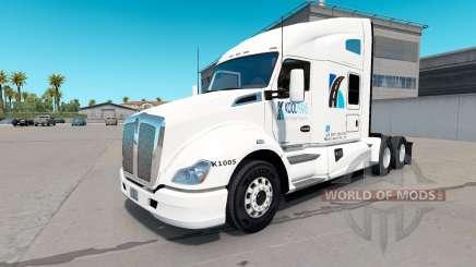 Skin KoolTrans on tractor Kenworth T680 for American Truck Simulator