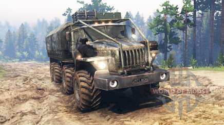 Ural-4320-10 8x8 for Spin Tires