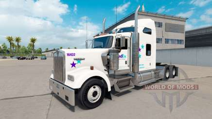 Скин FedEx Custom Critical на Kenworth W900 for American Truck Simulator
