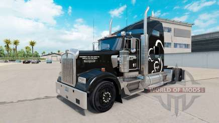 The Squirrel Logistics skin for the Kenworth W900 tractor for American Truck Simulator
