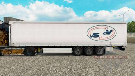 Skin Van Straalen De Vries curtain semi-trailer for Euro Truck Simulator 2