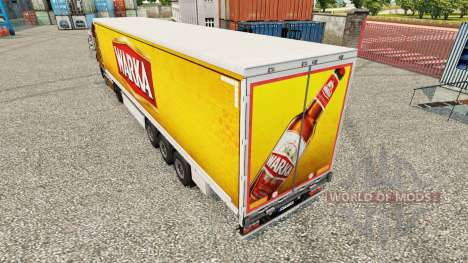 Skin Warka curtain semi-trailer for Euro Truck Simulator 2