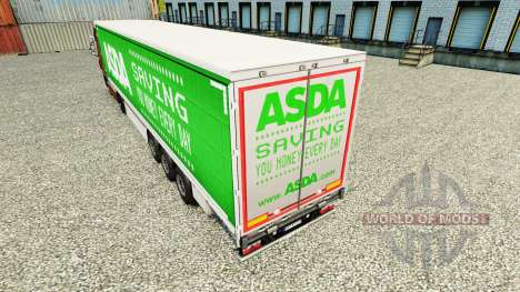 Skin ASDA on a curtain semi-trailer for Euro Truck Simulator 2