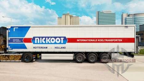 Skin Nickoot on a curtain semi-trailer for Euro Truck Simulator 2