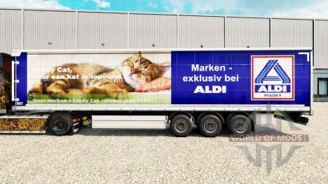 Skin Aldi Markt for curtain semi-trailer for Euro Truck Simulator 2