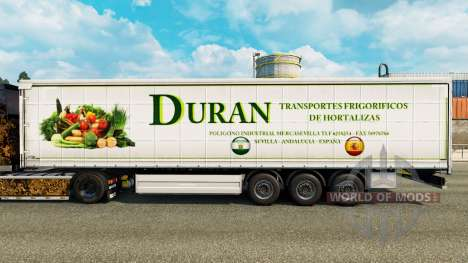 Skin Duran on a curtain semi-trailer for Euro Truck Simulator 2