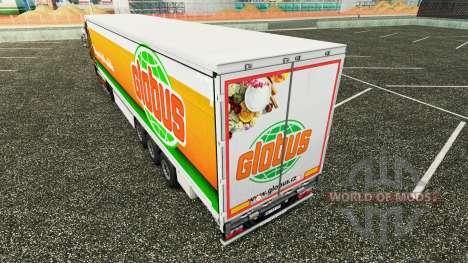 Skin Globus curtain semi-trailer for Euro Truck Simulator 2