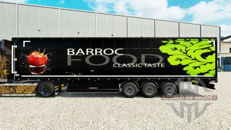 Skin Barroc Food on a curtain semi-trailer for Euro Truck Simulator 2