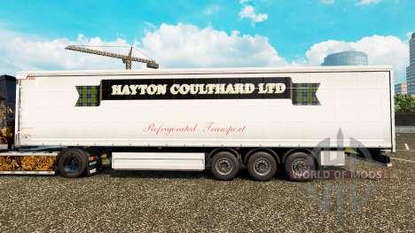Skin Hayton Coulthard Ltd in curtain semi-traile for Euro Truck Simulator 2