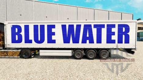 Skin at Blue Water curtain semi-trailer for Euro Truck Simulator 2