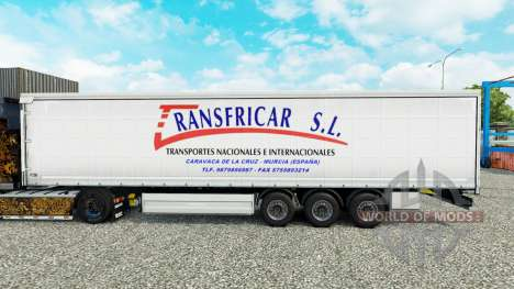 Skin Transfricar S. L. curtain semi-trailer for Euro Truck Simulator 2