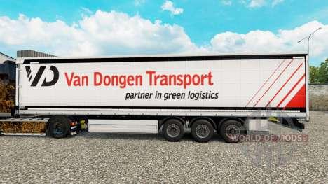 Skin Van Dongen Transport semi-trailer curtain for Euro Truck Simulator 2