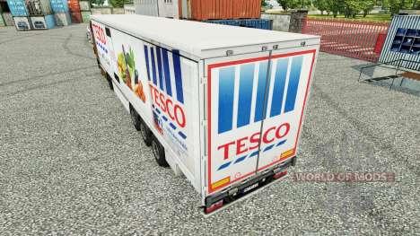 Skin Tesco curtain semi-trailer for Euro Truck Simulator 2