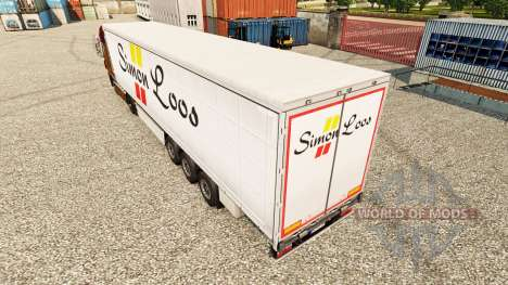 Simon Loos skin curtain semi-trailer for Euro Truck Simulator 2