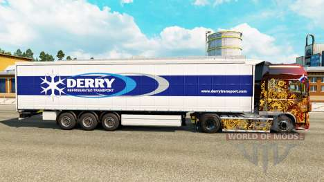 Skin Derry on a curtain semi-trailer for Euro Truck Simulator 2