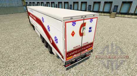 Skin Campillo Palmera on a curtain semi-trailer for Euro Truck Simulator 2