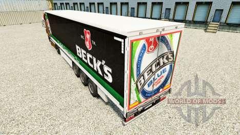 Skin Becks on a curtain semi-trailer for Euro Truck Simulator 2