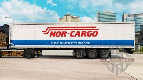 Skin Nor-Cargo Thermo on a curtain semi-trailer for Euro Truck Simulator 2