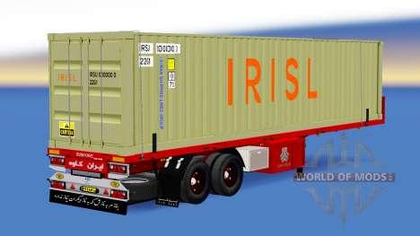The semitrailer-container truck Irisl for American Truck Simulator