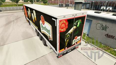 Skin Pilsner Urquell curtain semi-trailer for Euro Truck Simulator 2
