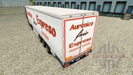 Skin Aurenico frio Expreso on a curtain semi-tra for Euro Truck Simulator 2