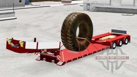 Low sweep with the load of large tires for American Truck Simulator