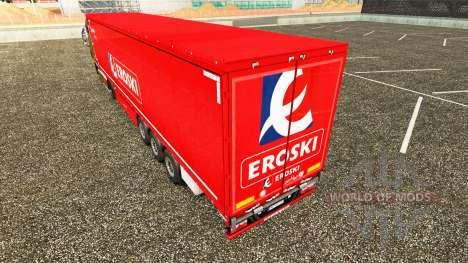 Skin Eroski on a curtain semi-trailer for Euro Truck Simulator 2