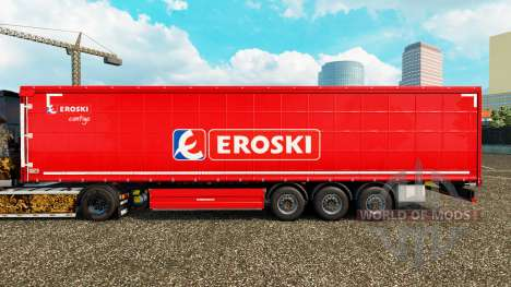 Skin Eroski on a curtain semi-trailer for Euro Truck Simulator 2