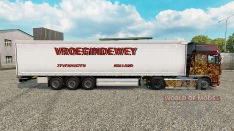 Skin Vroegindewey curtain semi-trailer for Euro Truck Simulator 2