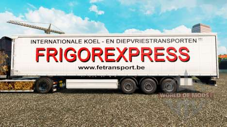 Skin Frigorexpress on a curtain semi-trailer for Euro Truck Simulator 2