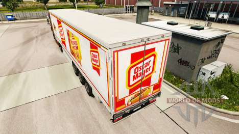 Skin Oscar Mayer curtain semi-trailer for Euro Truck Simulator 2