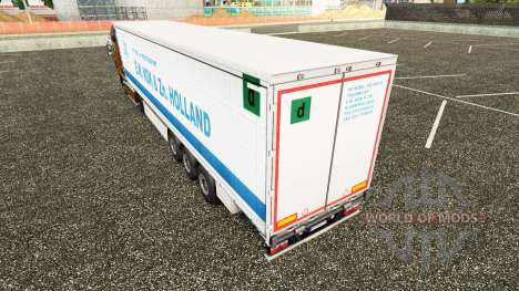 Skin E. W. Kok & Zn in Holland curtain semi-trai for Euro Truck Simulator 2