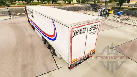 Skin Jp. Vis & Zn. on a curtain semi-trailer for Euro Truck Simulator 2