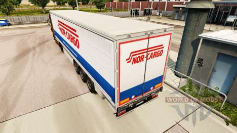 Skin Nor-Cargo Thermo on a curtain semi-trailer for Euro Truck Simulator 2
